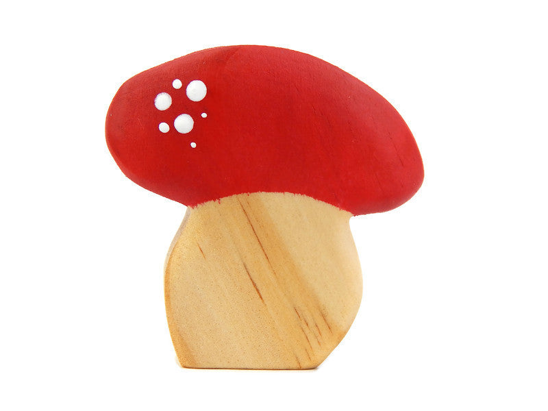 FOREST MUSHROOM - Red, Squat.