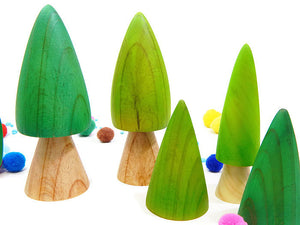 WOODLAND TREE SET - 6 piece.