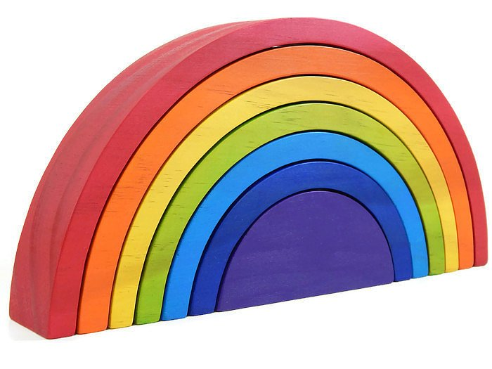 WOODEN RAINBOW - large