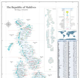 Map of the Maldives (Wall map)