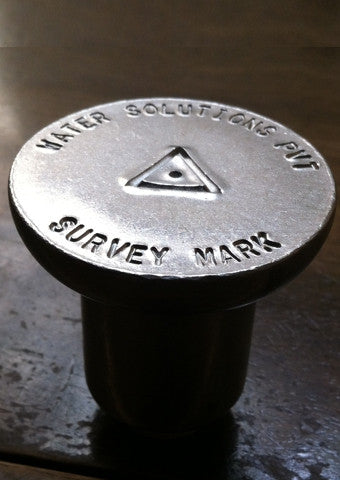 "2"" Aluminum Survey Markers for Rebar"