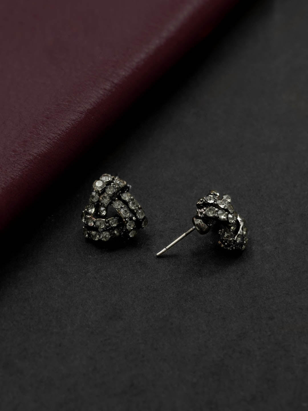 Silver Plating White Color Geometric Design Stud Earring By Aana-AANA-Earring