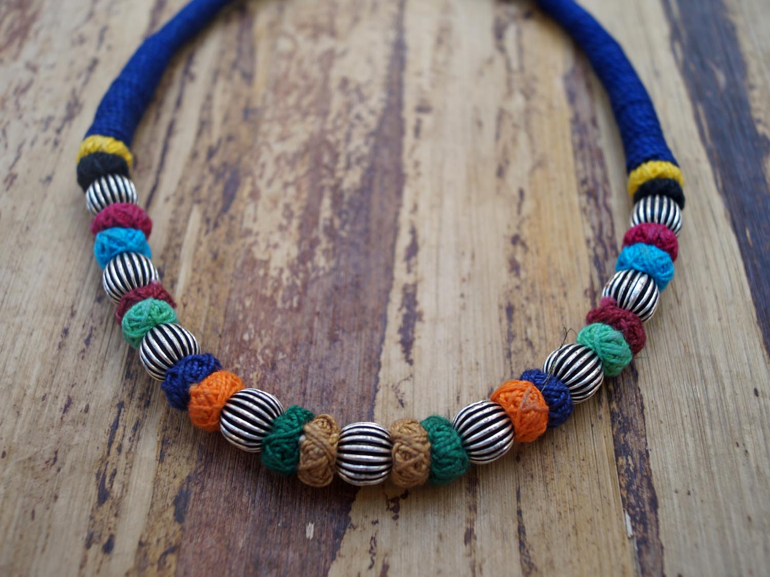 Contemporary Multicolour Choker Necklace Set