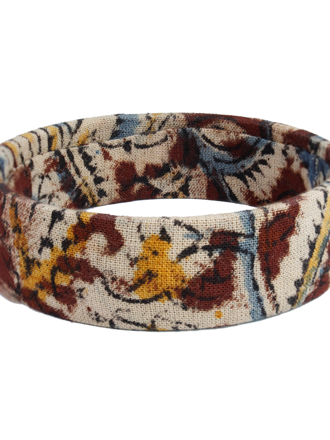 Kalamkari Fabric Printed Handmade Bangle-AVISMAYA1-Bangle
