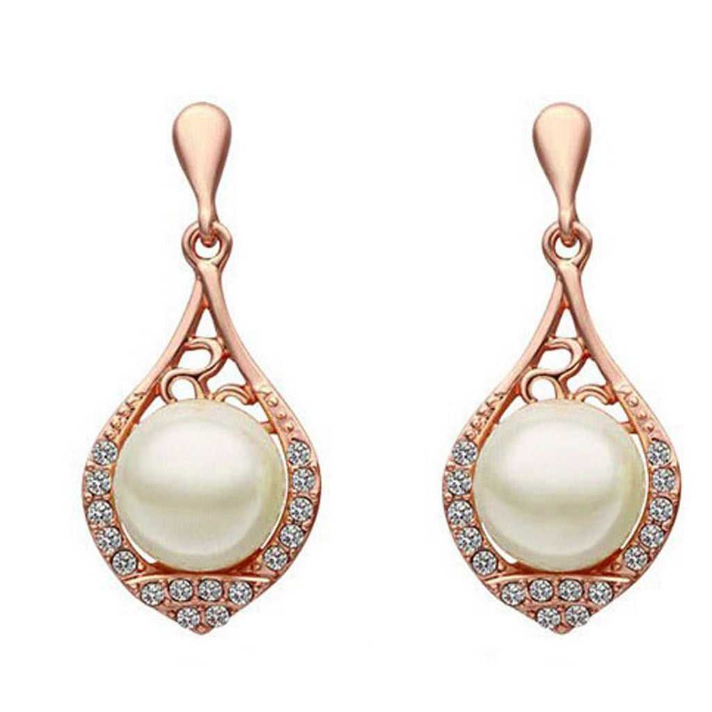Sukkhi Rose Gold Plated Cubic Zirconia Stone Kite Design Drop Earring-SUKKHI-Earring