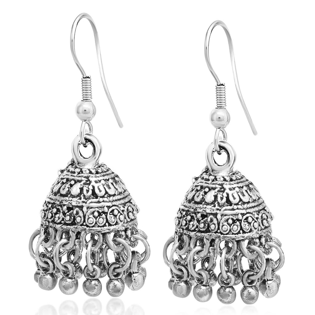 Sukkhi Adorable Oxidised Jhumki Earring For Women-SUKKHI1-Earring