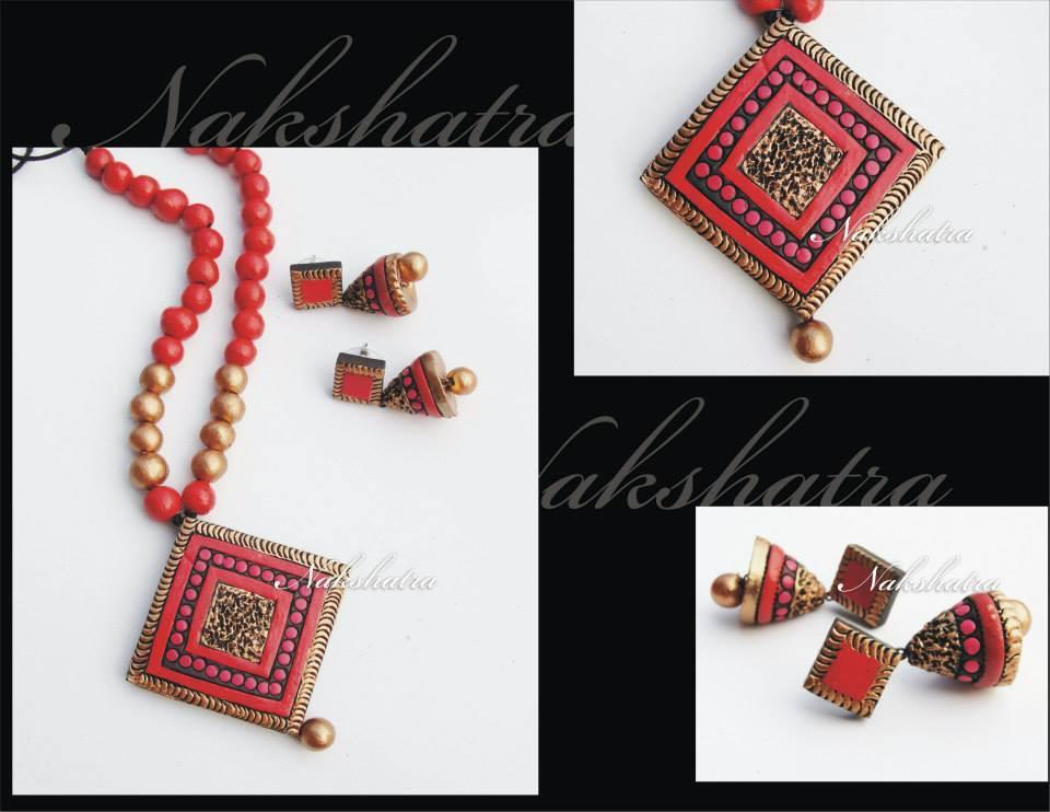 Multicolour Terracotta Necklace Set