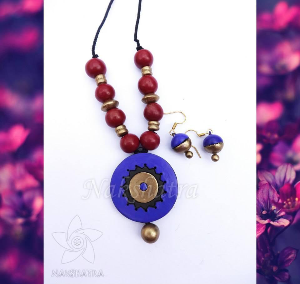 Terracotta Necklace Set By Nakshatra
