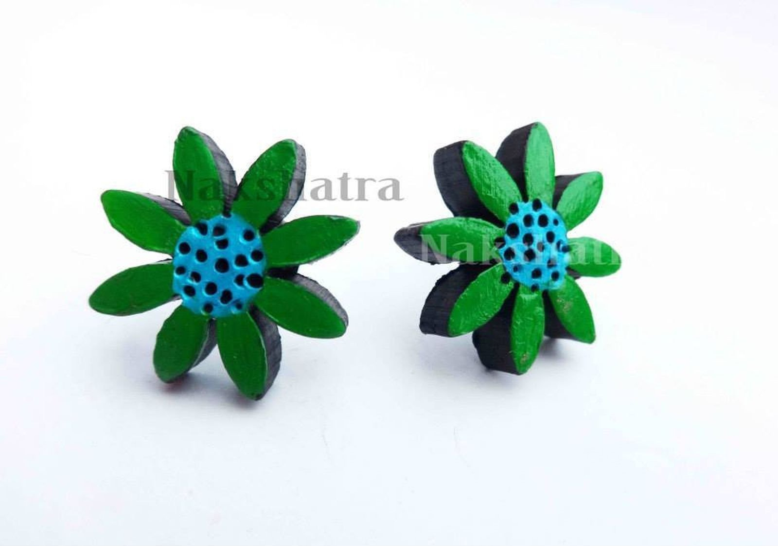 Terracotta Flower Tiny Stud