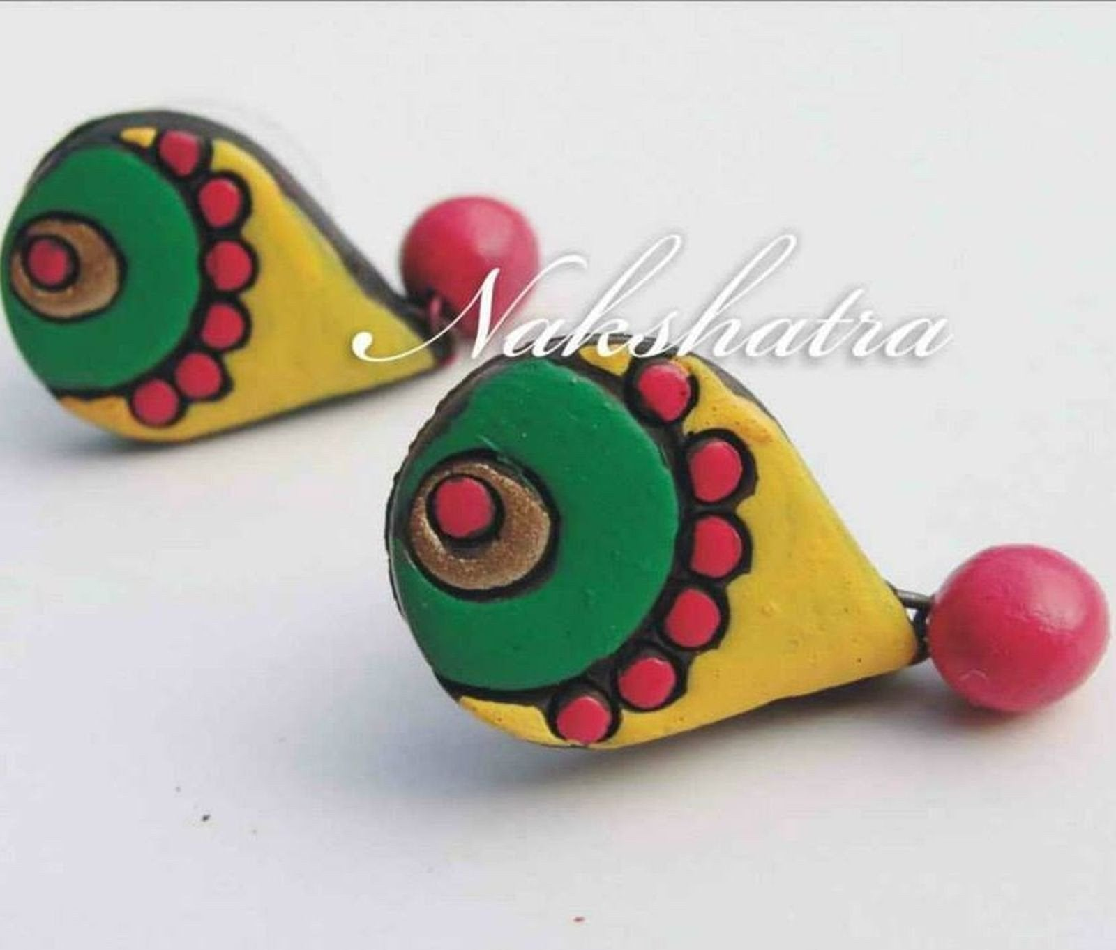 Multi-Color Terracotta Tiny Stud By Nakshatra