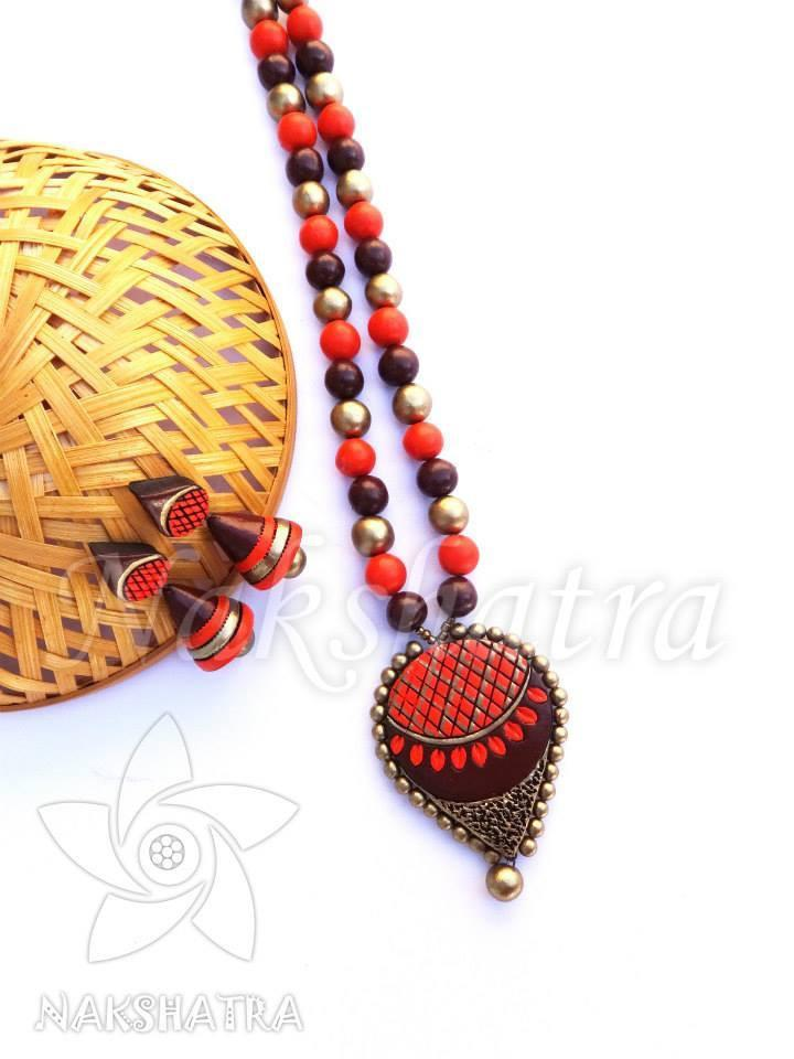 Multi-Color Terracotta Necklace Set By Nakshatra