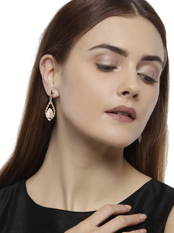 Combo Of 3 Rose Gold Fashion Forward Earrings
