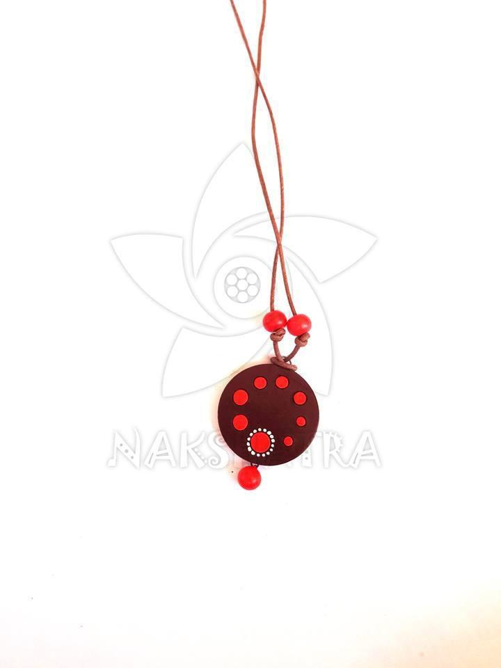 Multicolor Terracotta Pendant By Nakshatra