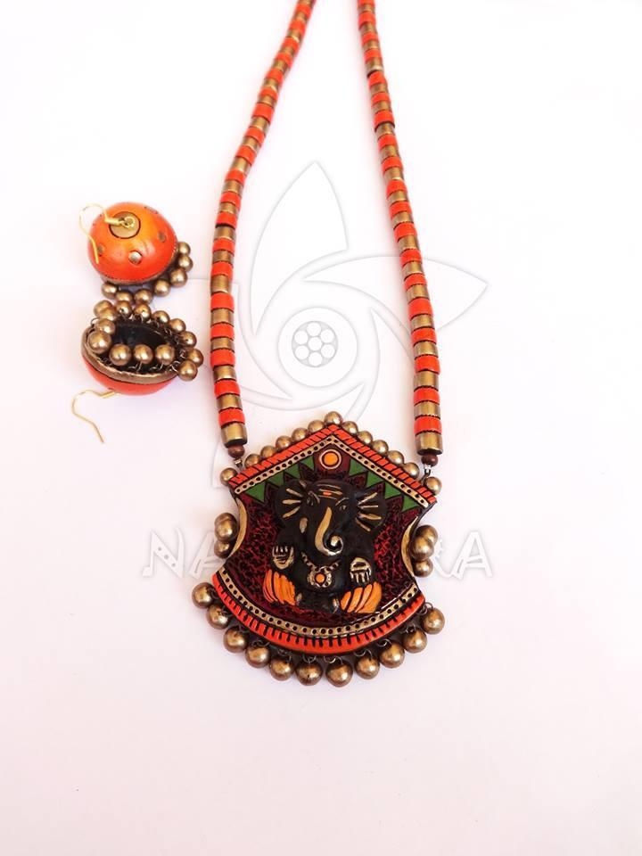 Multicolor Terracotta Necklace Set By Nakshatra