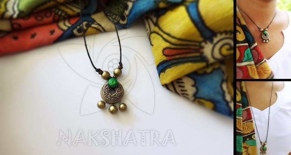 Green And Gold Terracotta Necklace
