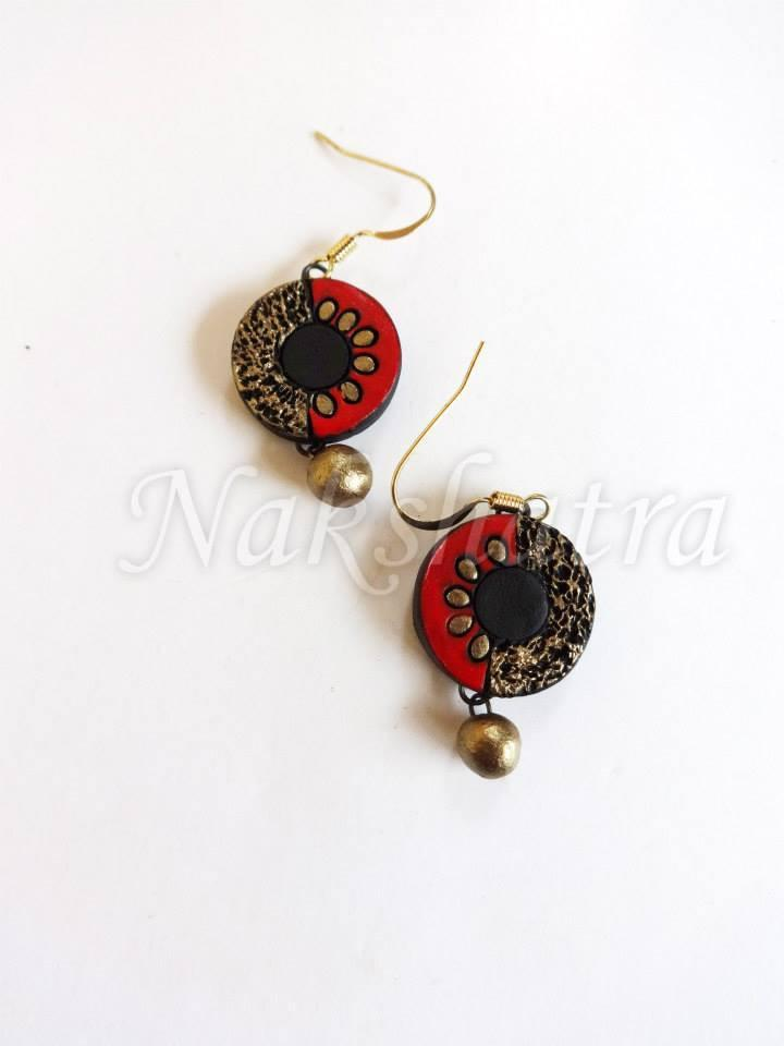 Multi Colour Terracotta Stud Earring