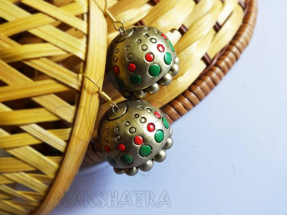 Multi Colour Terracotta Earring
