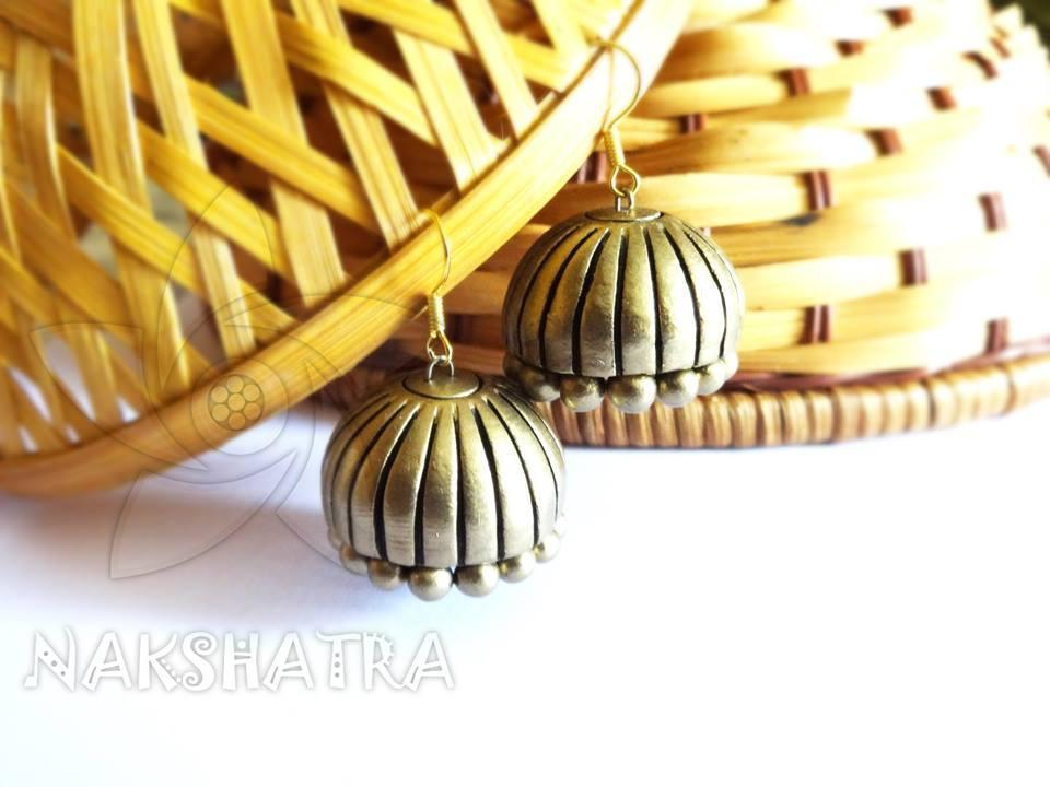 Golden Colour Terracotta Earring