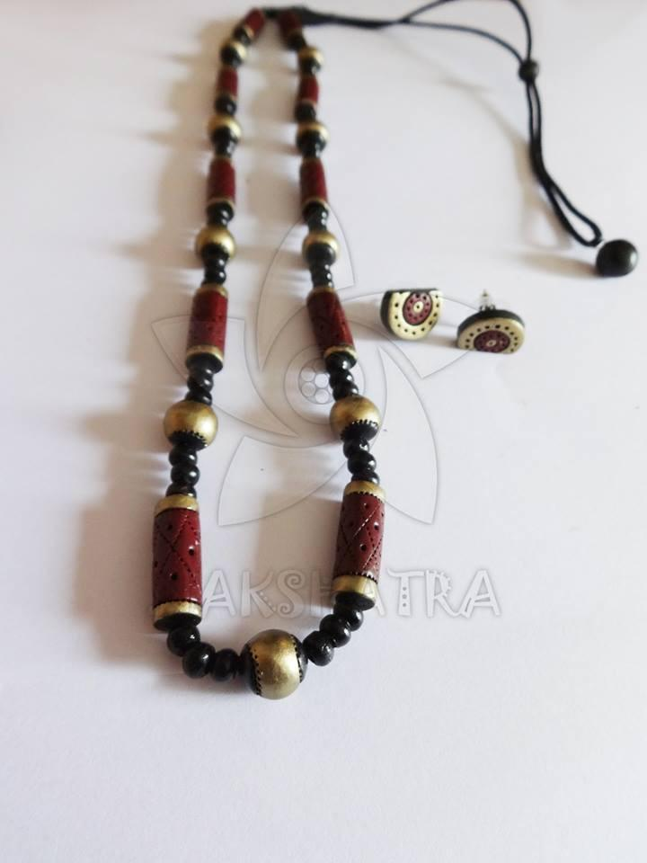 Multi Colour Terracotta Necklace Set