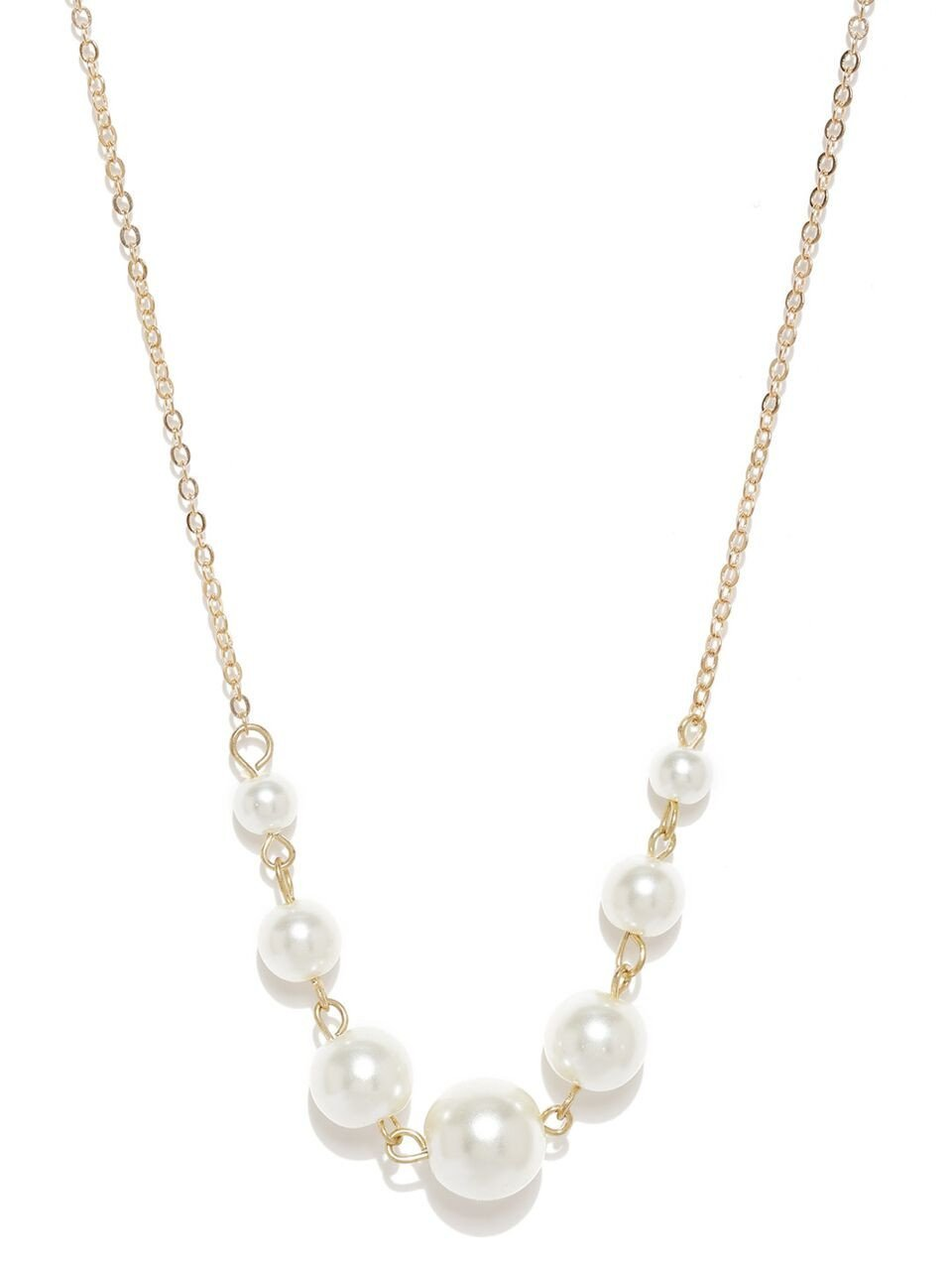 Gold Moony Pearl Necklace