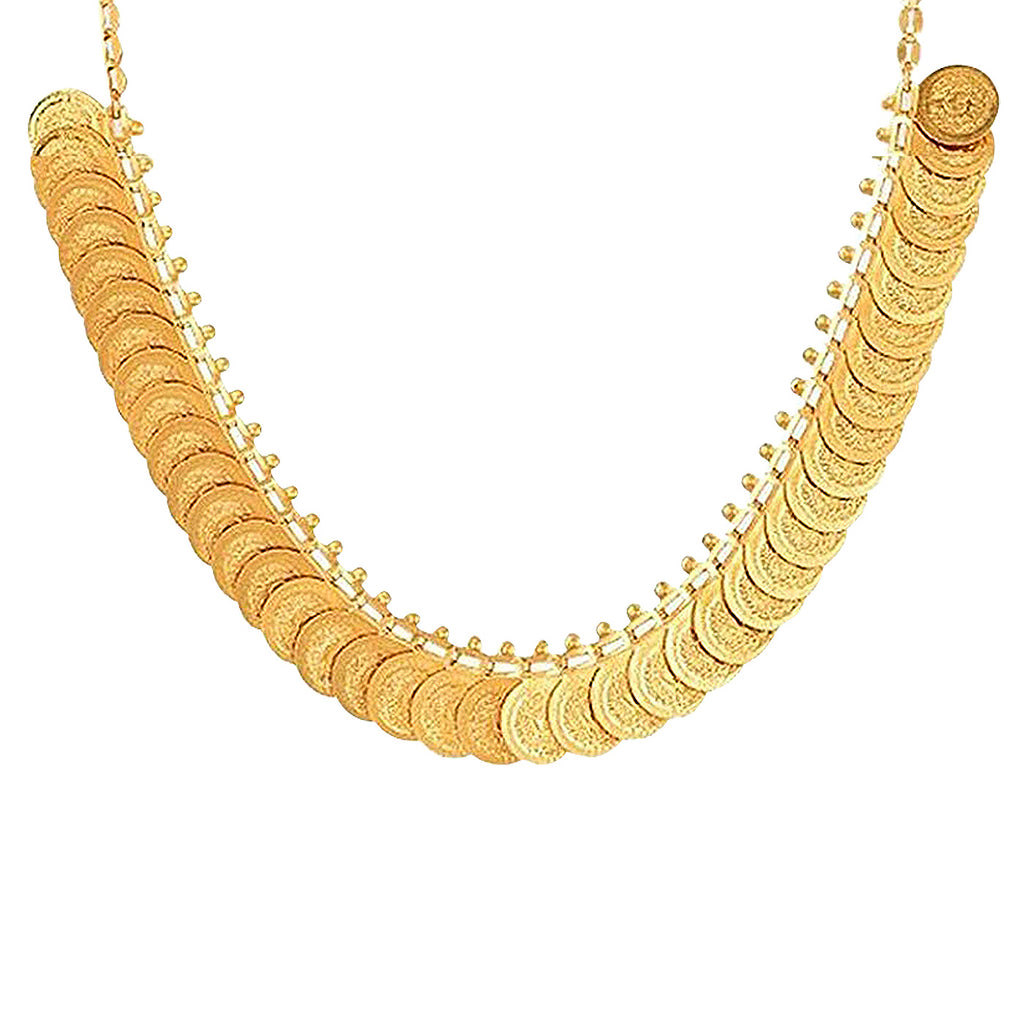 Sukkhi Traditional Temple Lakshmi Coin Necklace And Choker Combo for Women-SUKKHI-Combo