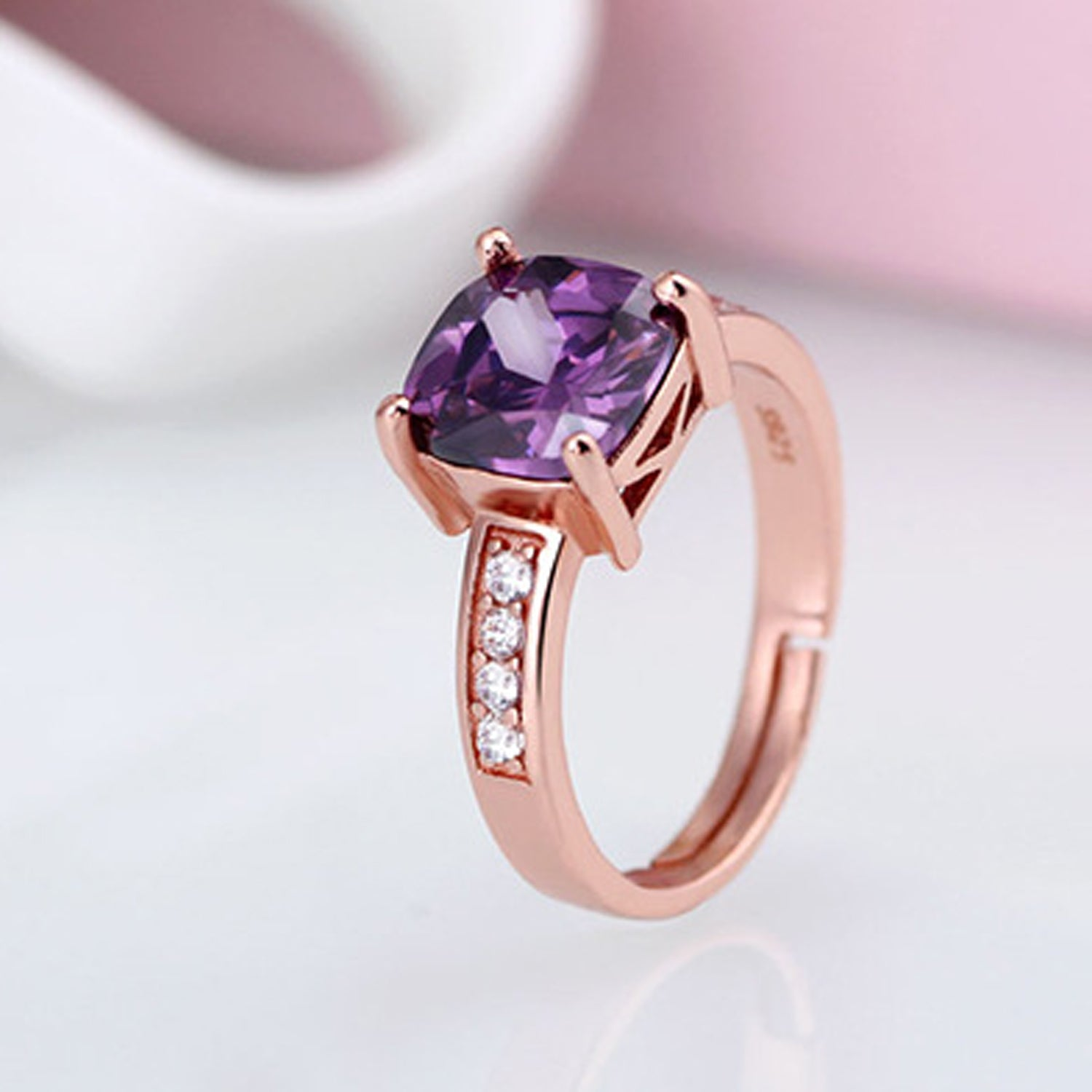 Sukkhi Exquisite Artificial Stone Rose Gold Plated Finger Ring for Women-SUKKHI-Finger Ring