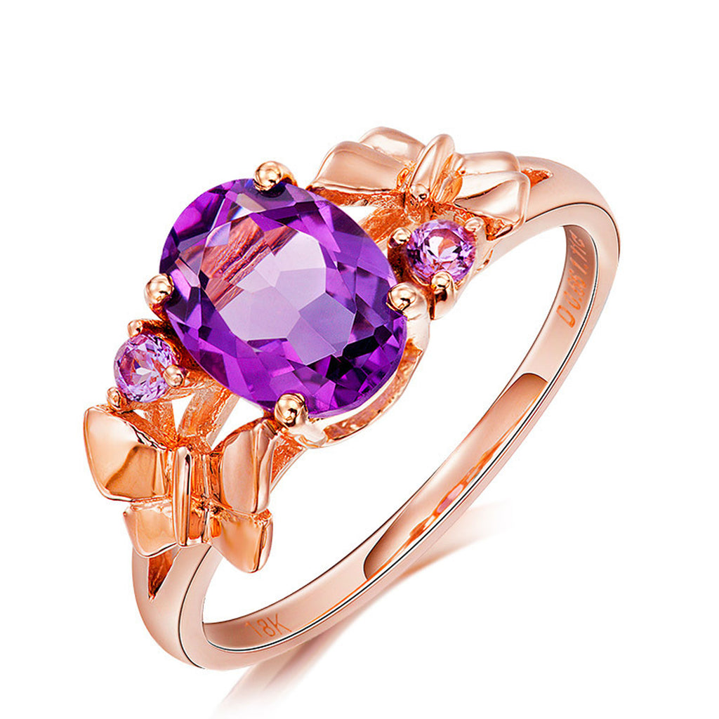 Sukkhi Crystal Stone Shimmering Rose Gold Plated Finger Ring for Women-SUKKHI-Finger Ring