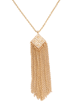 Filigree  Fringe Necklace