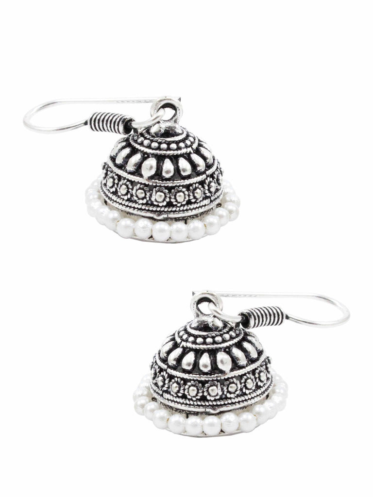 Oxidized German Silver Jhumka Earrings