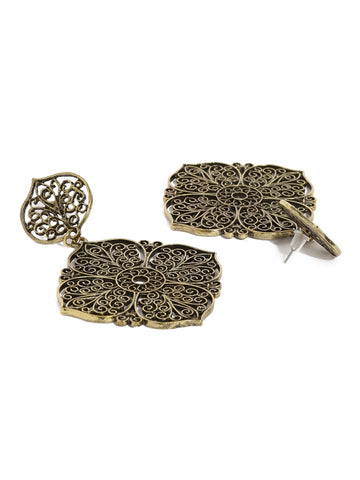 Silver Lattice Earring
