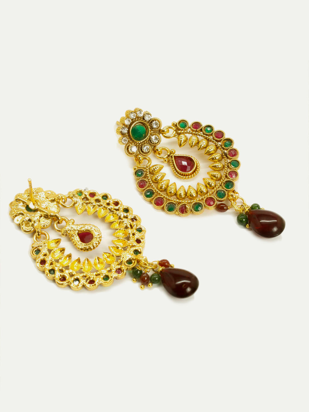 Antique Gold Plated Ram Leela Design Dangler Earring-AVISMAYA1-Earring