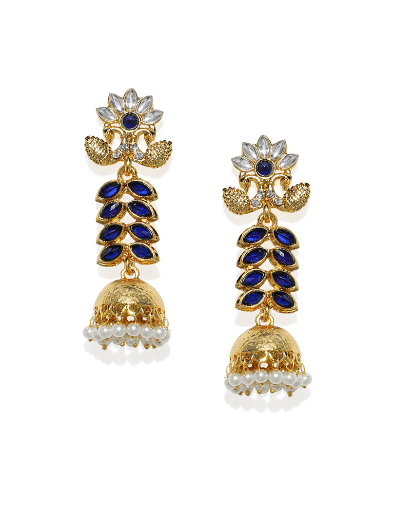 Zaveri Pearls Antique Gold Tone Traditional Jhumki Earring