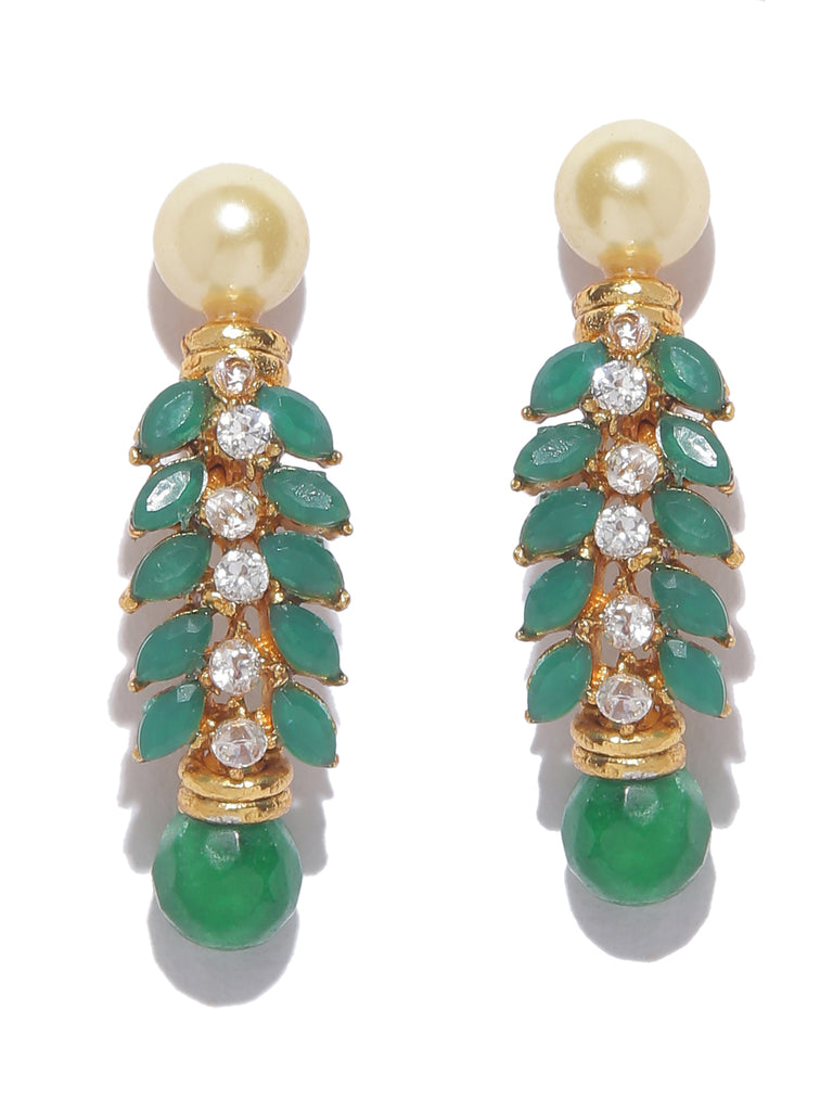 High quality Contemporary Green Dangler Earring-ARADHYAA JEWEL ARTS1-Earring
