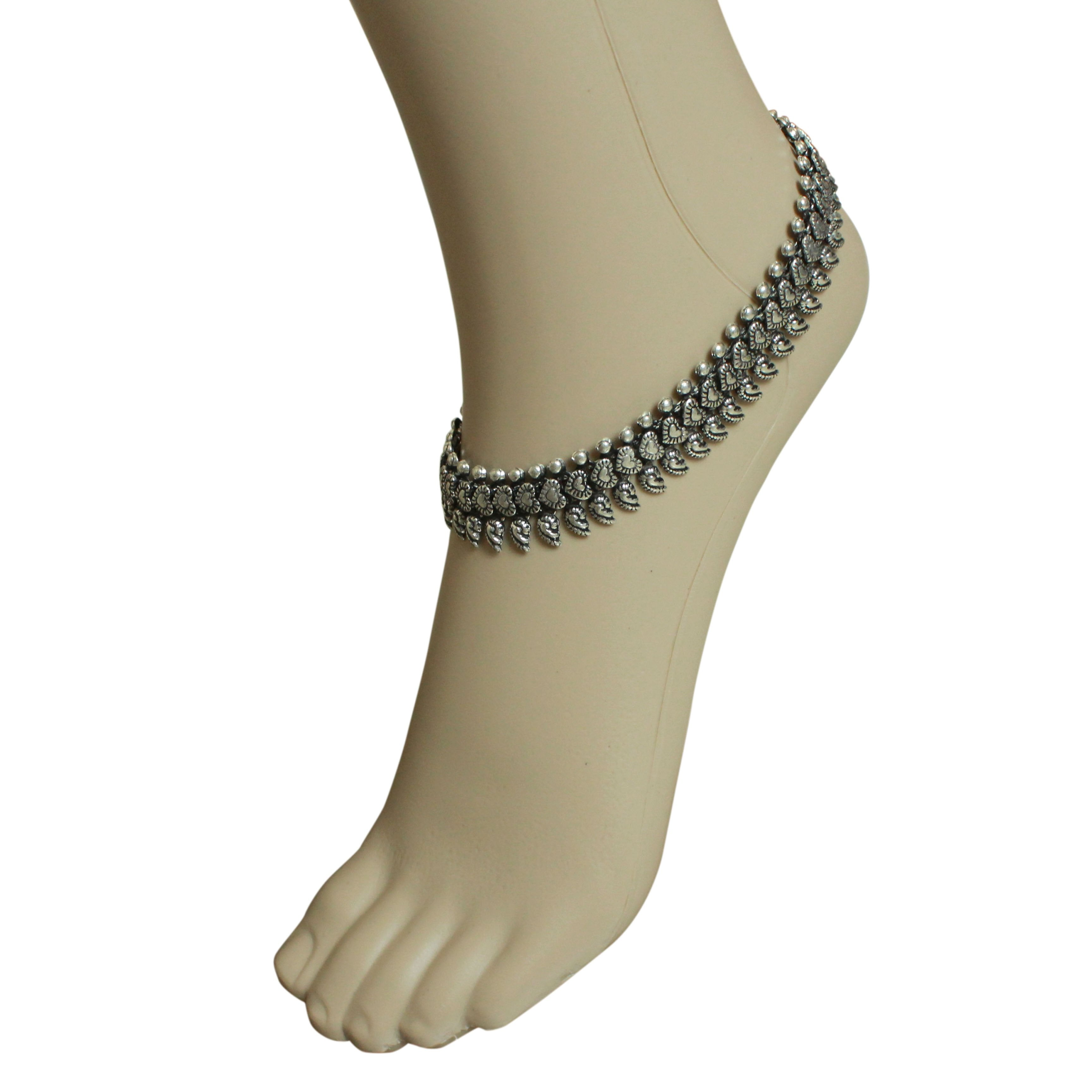 Oxidised German Silver Anklet