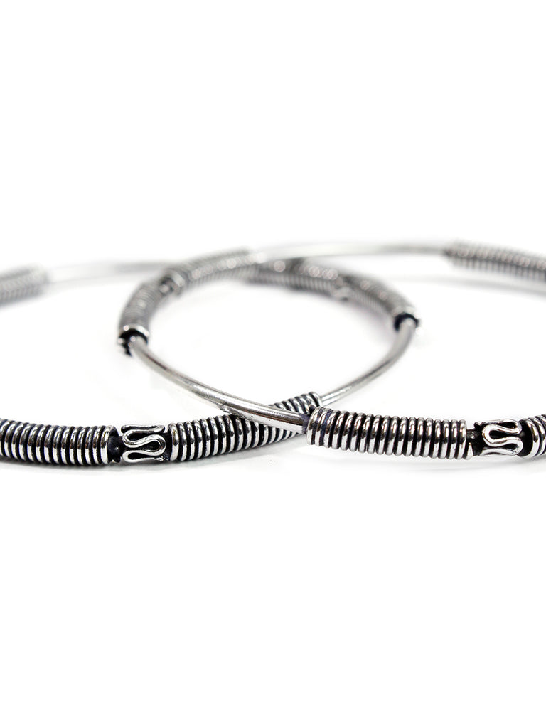 Oxidised German Silver light weight bangle