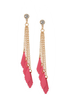 Flirty Fin Tassel Earring