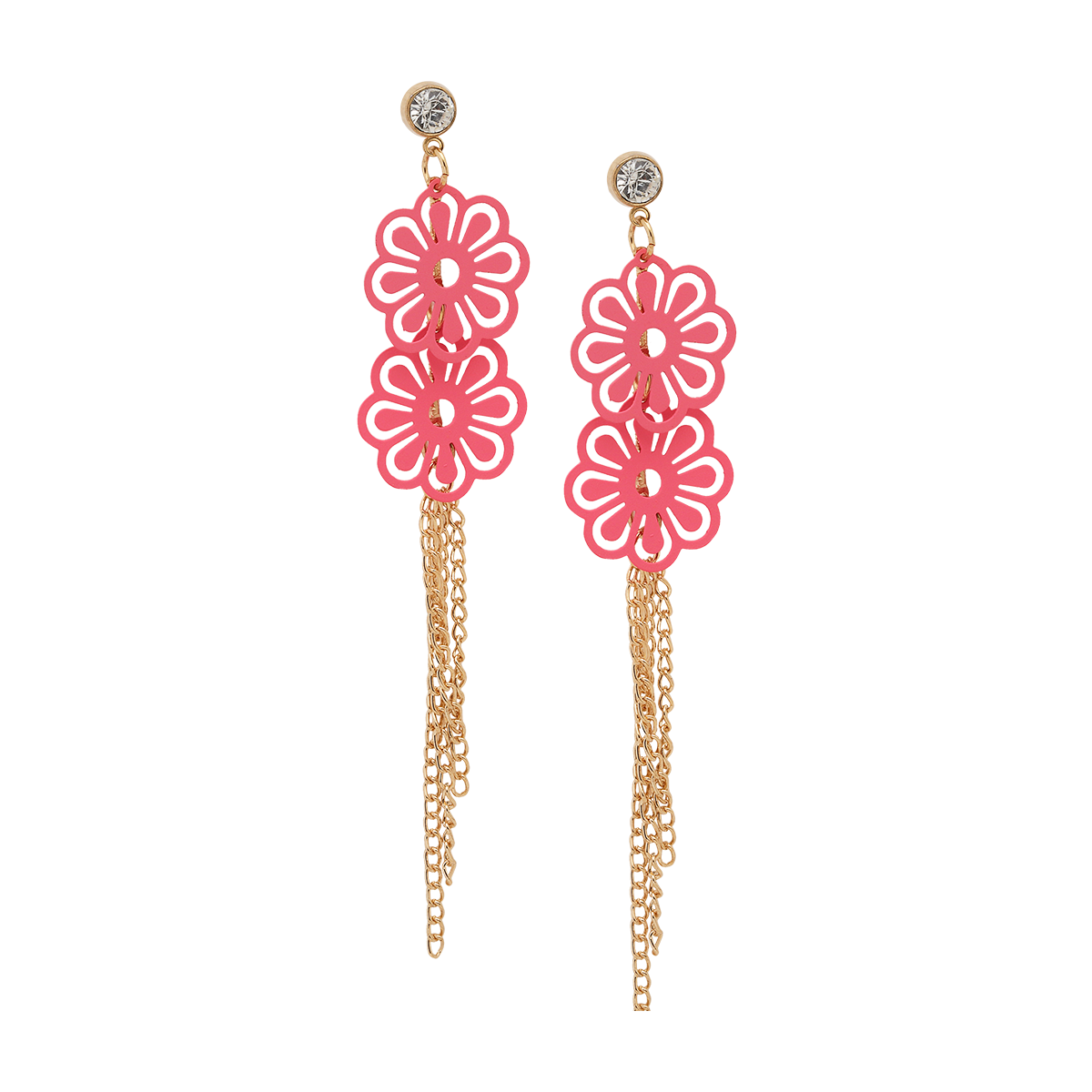 Flower Power Tassel Earrings