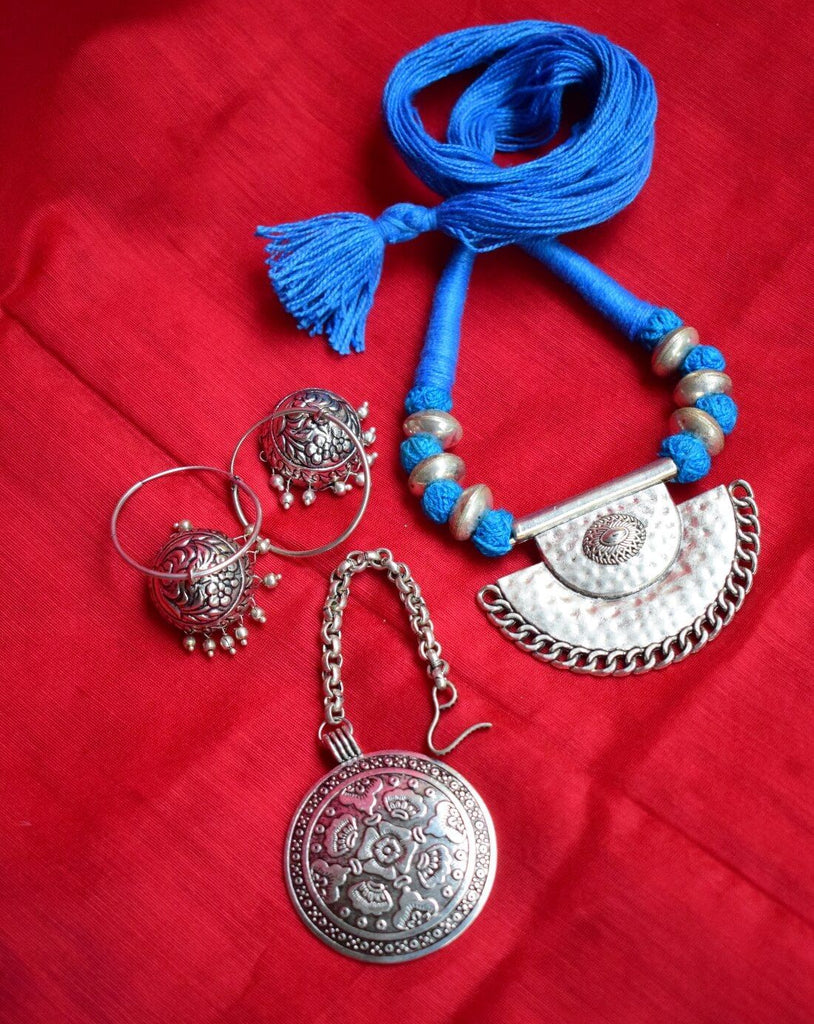 GiftPiper Combo Necklace Set With Maang Tikka