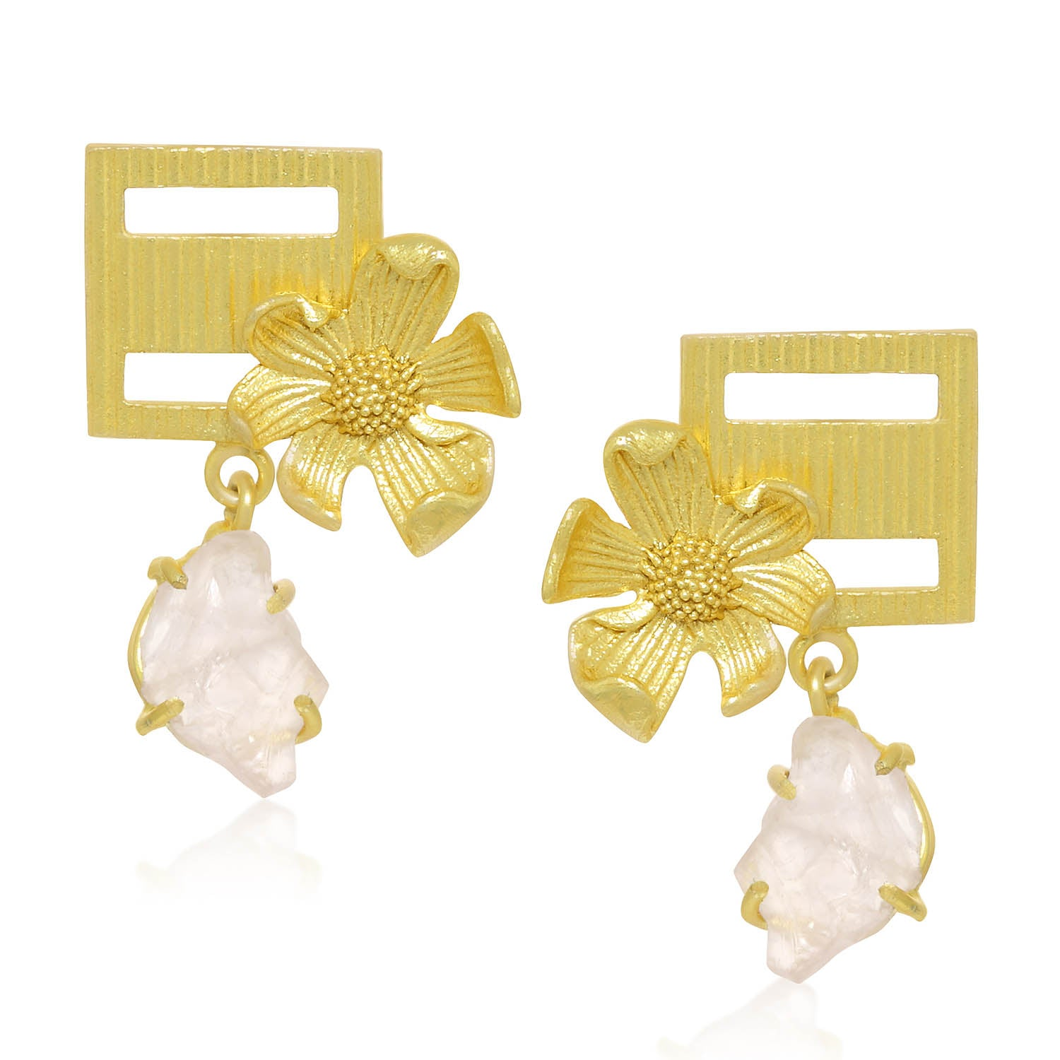 Sukkhi Classic Gold Plated Floral Dangle Earring For Women-SUKKHI1-Earring