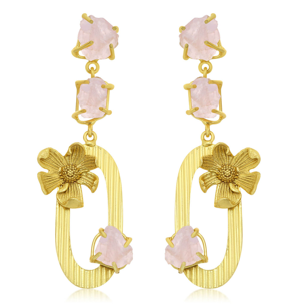Sukkhi Elegant Gold Plated Floral Chandelier Earring For Women-SUKKHI1-Earring