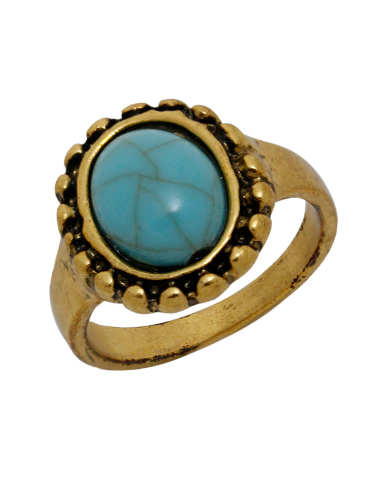 AANA Gold Plated Geometric Design Finger Ring-AANA1-Finger Ring