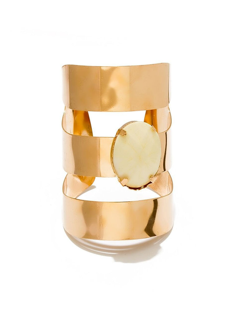 Metallic Blast Cuff - White