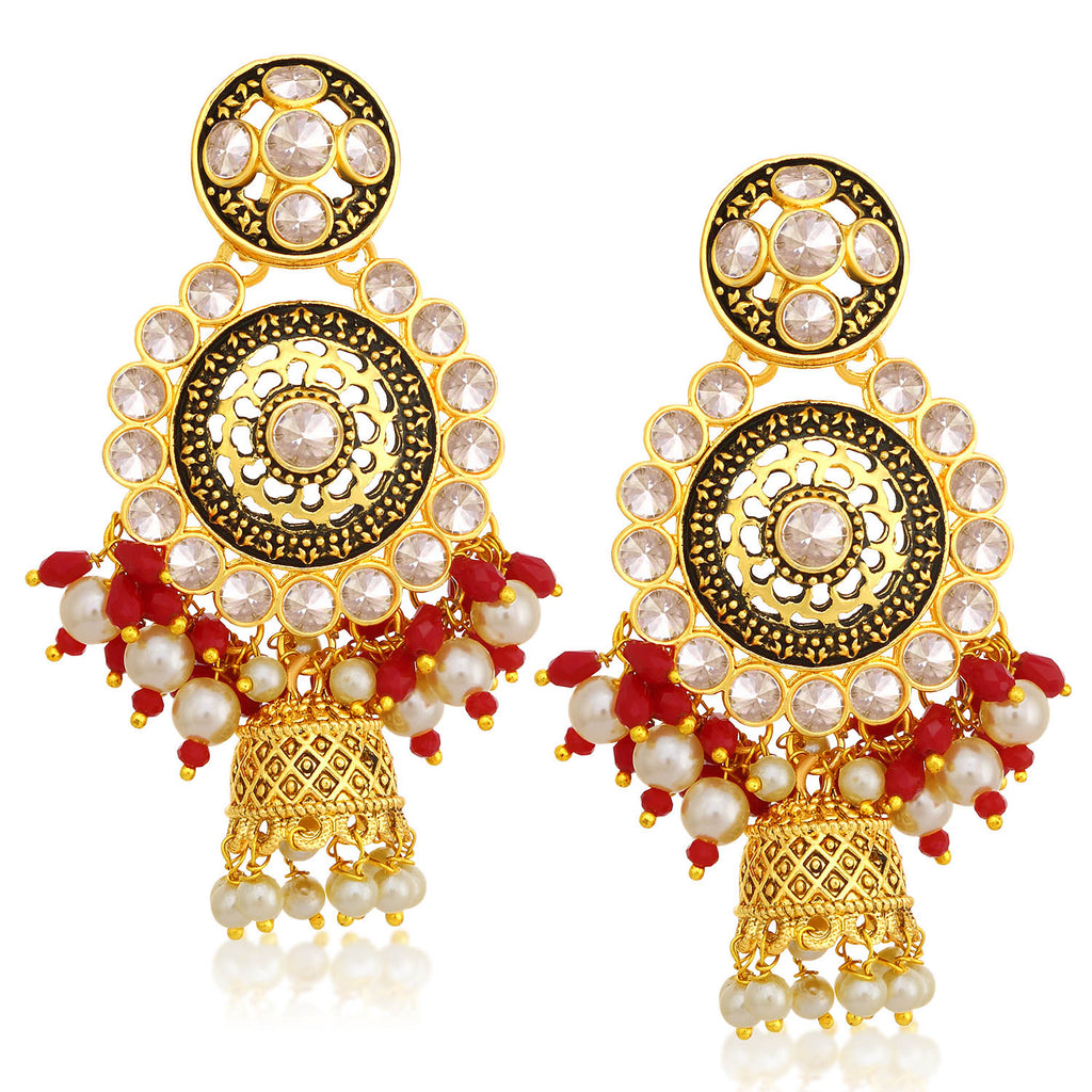 Sukkhi Spectacular Gold Plated Pearl Jhumki Earring For Women-SUKKHI1-Earring