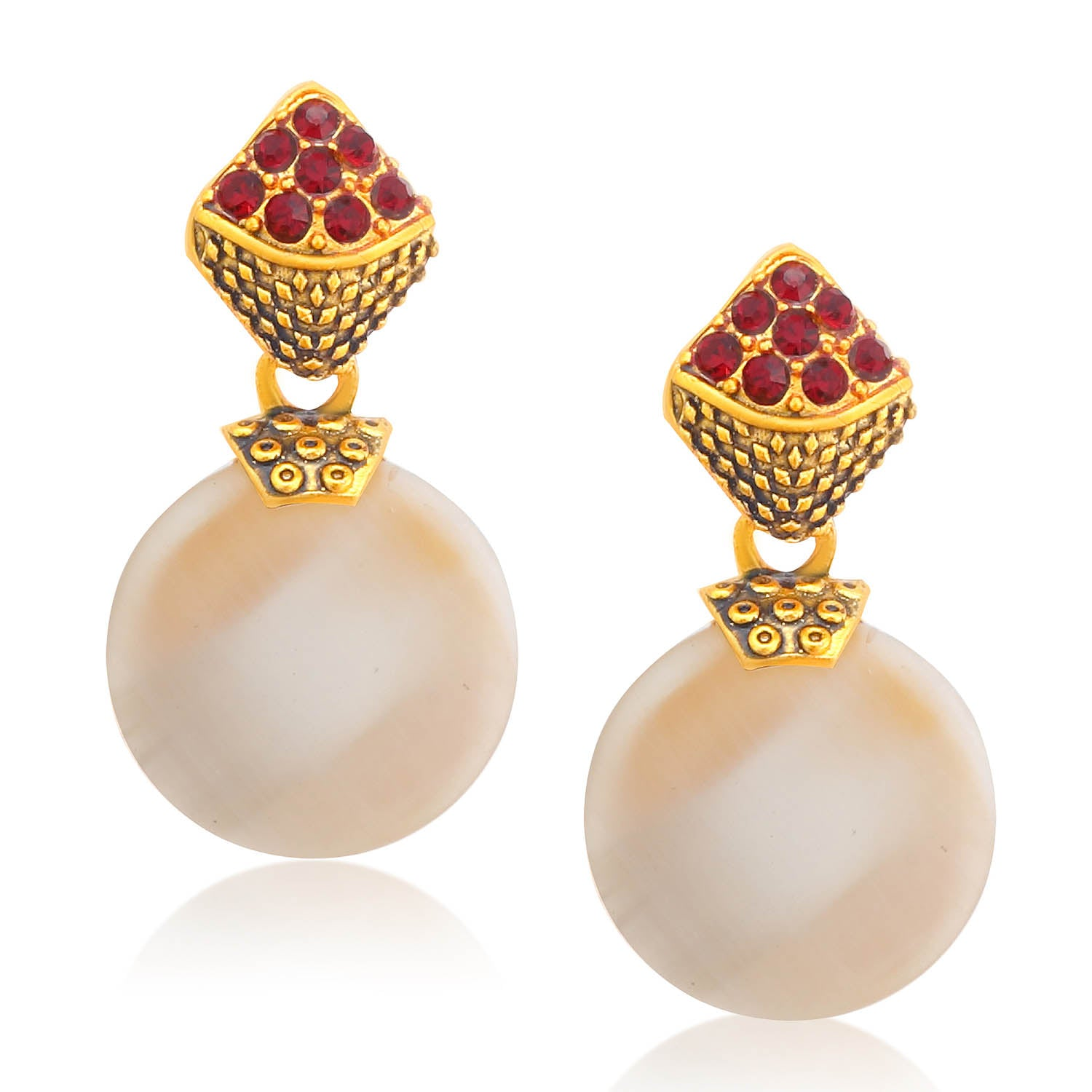 Sukkhi Ritzzy Gold Plated Pearl Dangle Earring For Women-SUKKHI1-Earring