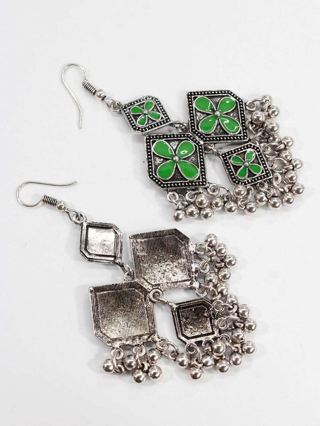 Aana Geometric Design Green Earring-AANA1-Earring