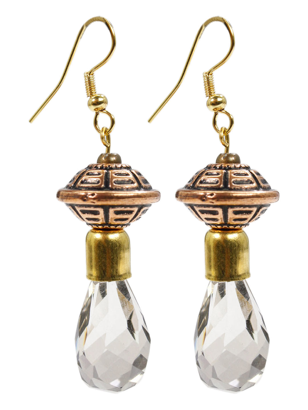 Aana Brown Color Geometric Design Earring-AANA1-Earring