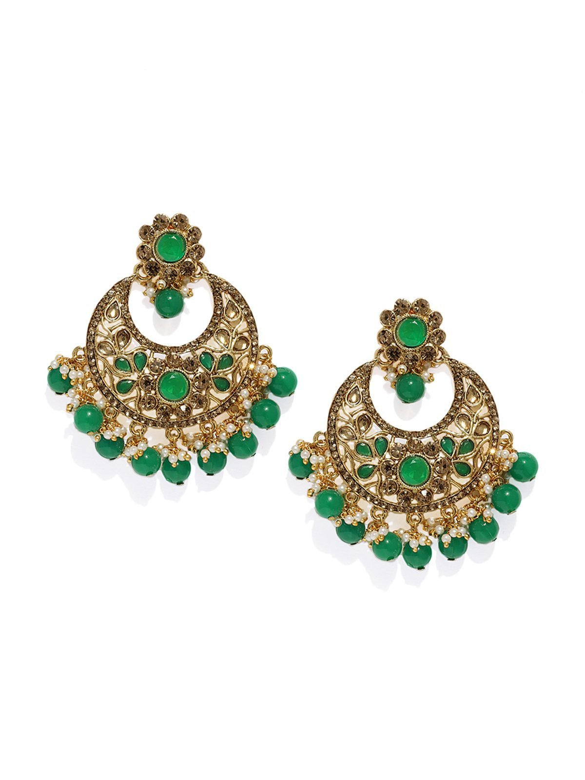Gold Tone Traditional Dangler And Drop Earring