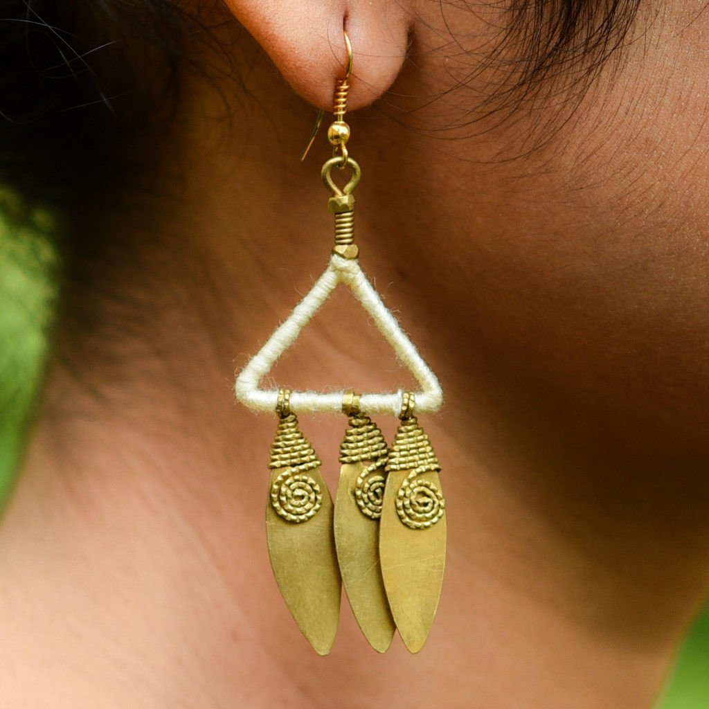 Dhokra Earring Trilogy