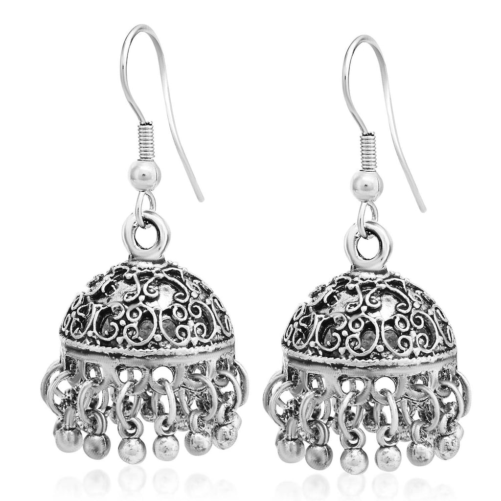 Sukkhi Classy Oxidised Jhumki Earring For Women-SUKKHI1-Earring