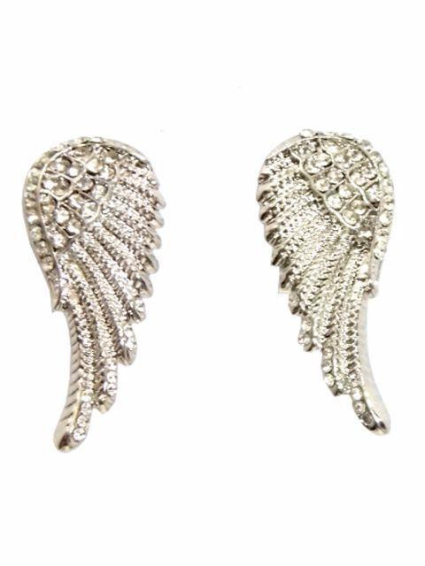 Wings Shape Antique Stone Studs Earrings